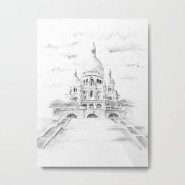 Sacre-Coeur Metal Print