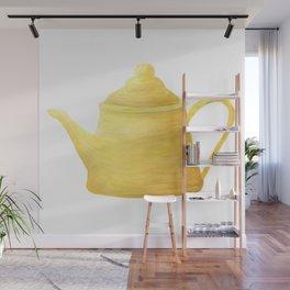 Yellow Teapot Illustration // Kitchen Decor Wall Mural