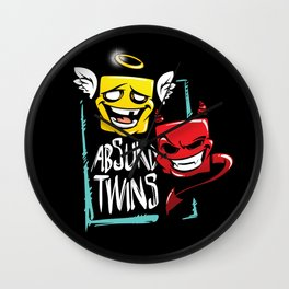 absurd twins Wall Clock