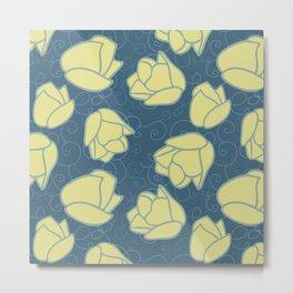 Spring Patio Collection - Tulip Swirl Metal Print