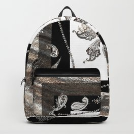 Gold Floral Paisley Backpack
