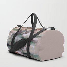 abstract colorful pastel drawing green brown tones Duffle Bag