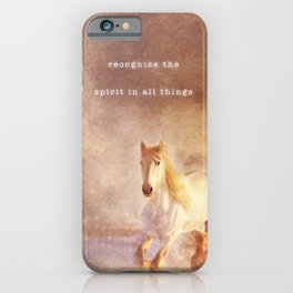 Spirit In All Things   Bohemian Horses iPhone Case