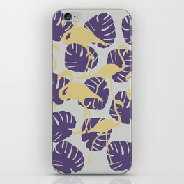 Flamingos and Monstera Pattern ZZ iPhone Skin