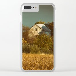 Abandoned Barn Colorized Landscape Photo - Farmhouse Rural Art Clear iPhone Case
