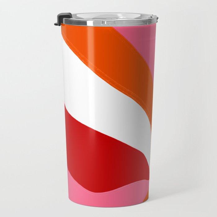 marlowe, pink & orange Travel Mug