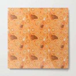 Orange Soda Pop Print Metal Print