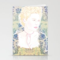 marie antoinette Stationery Cards featuring MARIE ANTOINETTE by Itxaso Beistegui Illustrations