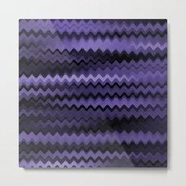 Purple Waves Abstract Metal Print