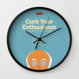 Curb Your Enthusiasm - Hbo tv Show with Larry David - Poster Wall Clock
