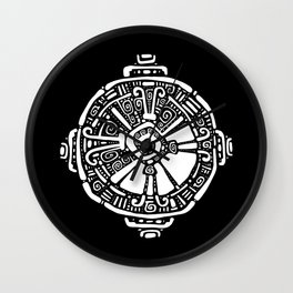 Hunab Ku.  Mayan symbol. Hand Drawn detailed pattern. Wall Clock