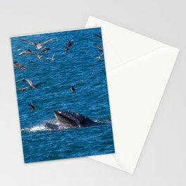 Humpback Whale with a Mouthful Stationery Cards