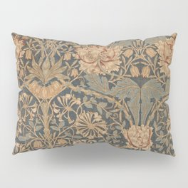 Honeysuckle by William Morris 1876,  Printed Linen, Vintage Pattern, CC0 Spring Summer Pillow Sham