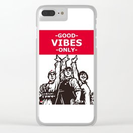 Good vibes Chinese style print art Clear iPhone Case