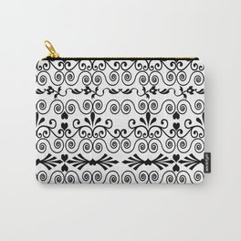 Curls And Hearts Carry-All Pouch
