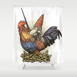 Gnome Knight Shower Curtain