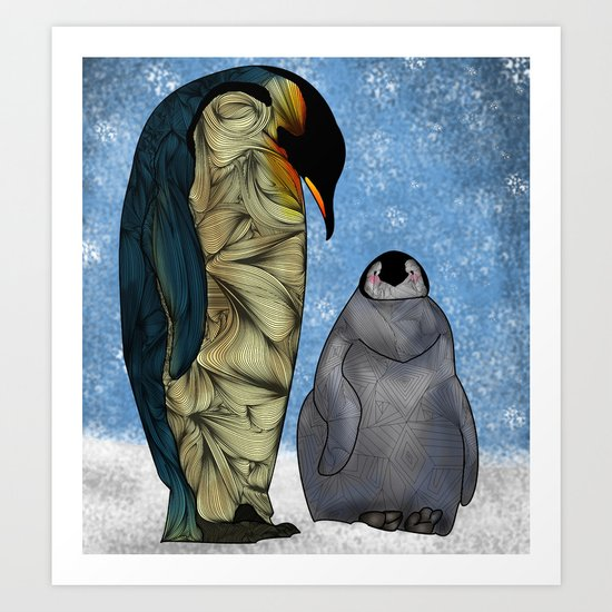 Emperor Penguins Art Print
