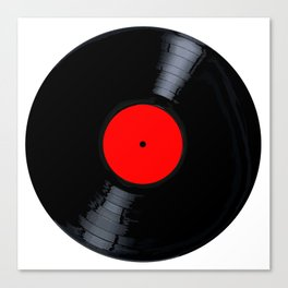 Blank Red Record Label Canvas Print