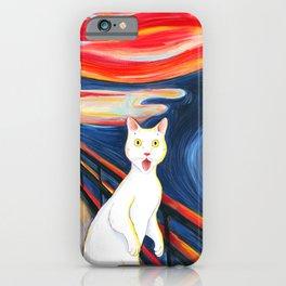 Cat surprise iPhone Case