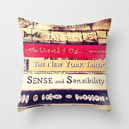 Classic Books Throw Pillow