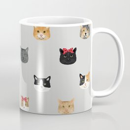 Cat heads cute pet gifts cat lover cat person must haves cat breeds Coffee Mug