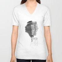 architect V-neck T-shirts featuring Nature Architect by Sergio Varanitsa