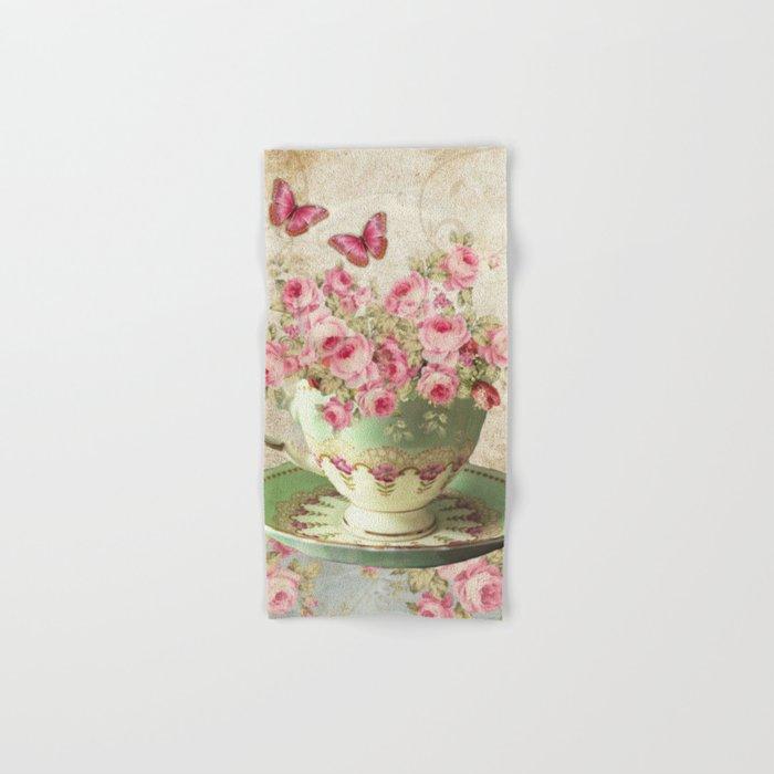 Tea Flowers #4 Hand & Bath Towel