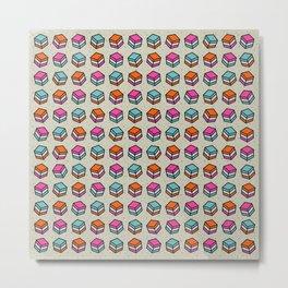 Liquorice Candy Sweet Pattern Metal Print