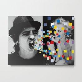 scream pop art monroe seitz Metal Print