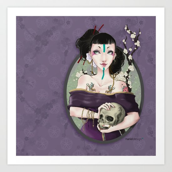 Asian crew - Punk Geisha Art Print
