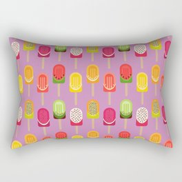 Fruit popsicles - pink version Rectangular Pillow