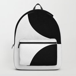 One - a minimal, simple circle abstract Backpack