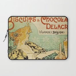 Vintage poster - Biscuits and Chocolat Delacre Laptop Sleeve