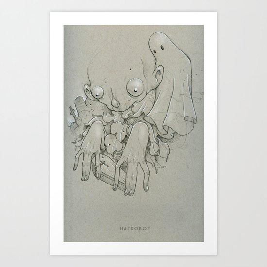 Tiny Coffin Art Print