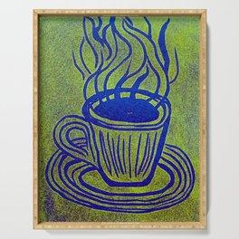 Original Linocut Art By Gina Lee Ronhovde Serving Tray
