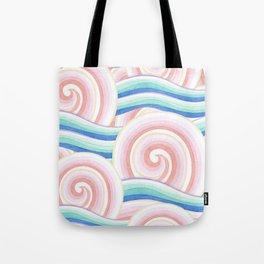 Pastel Auspicious Waves Tote Bag
