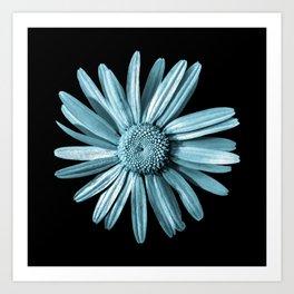 Dinged - aqua Art Print