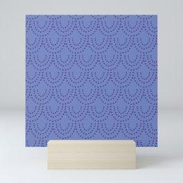 Periwinkle Scallops Mini Art Print