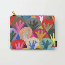 Abstract trees pattern Carry-All Pouch