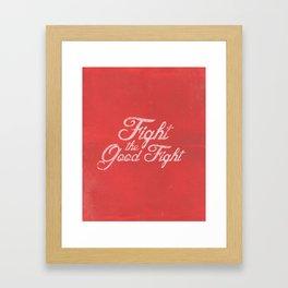 FIGHT (ALTERNATE) Framed Art Print