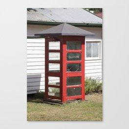 Old Telephone box Canvas Print