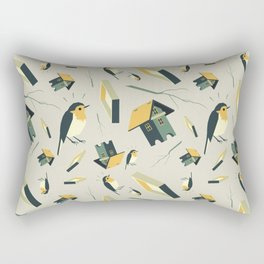 Flying Birdhouse (Pattern) Rectangular Pillow