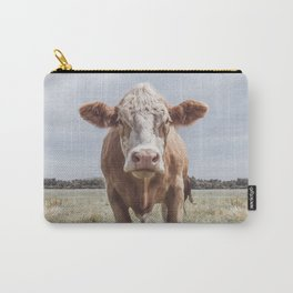 Animal Photography   Highland Cow Portrait Photography   Farm animals Carry-All Pouch