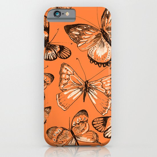 Coral butterflies iPhone & iPod Case