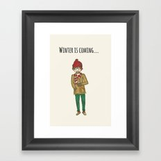 warm hipster Framed Art Print
