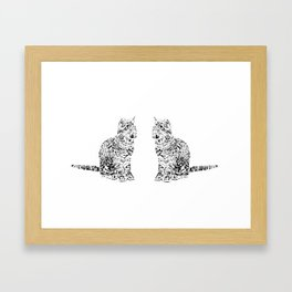 Abstract cats Framed Art Print