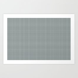 Plaid Dark Green Inspired by PPG Glidden Trending Colors of 2019 Night Watch PPG1145-7 Art Print