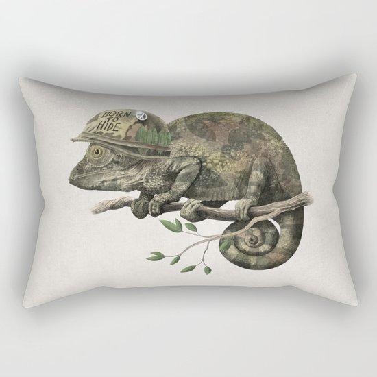 Born to Hide Rectangular Pillow