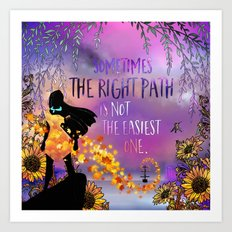 The Right Path Art Print