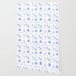 Charleston Floral Sky Blue Wallpaper